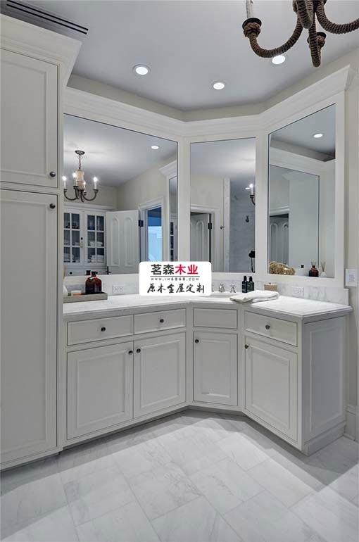专业定做木质卫浴柜 简洁美观